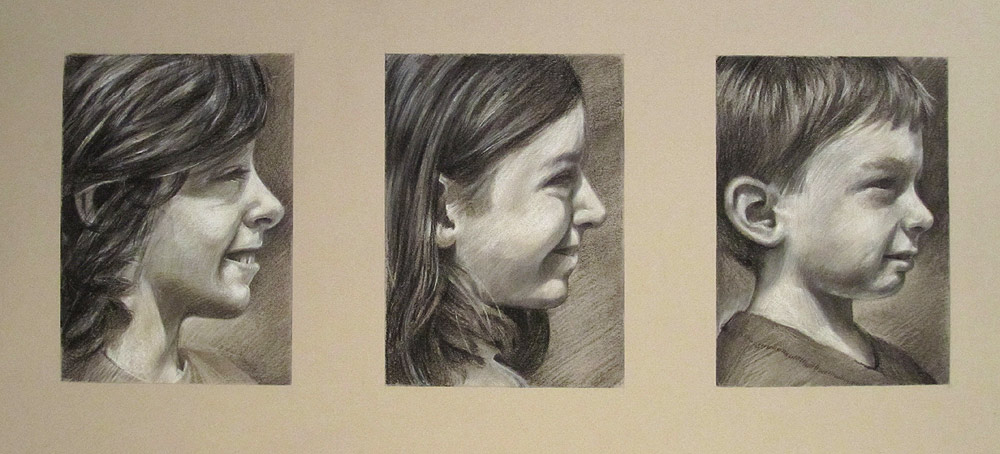 Kids commission demo in conte and charcoal by Scott Hutchison