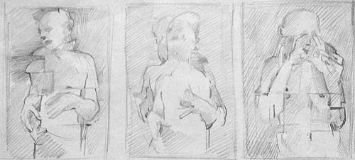 A small study for the Triptych