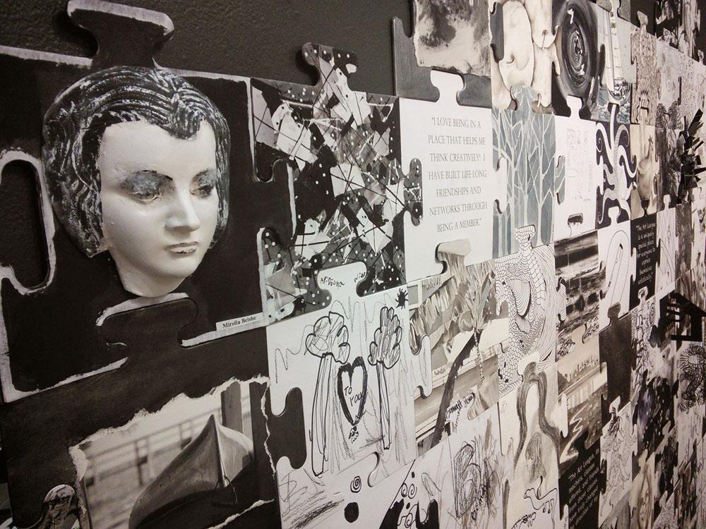 Scott Hutchison - Art League - Close up of Community Canvas