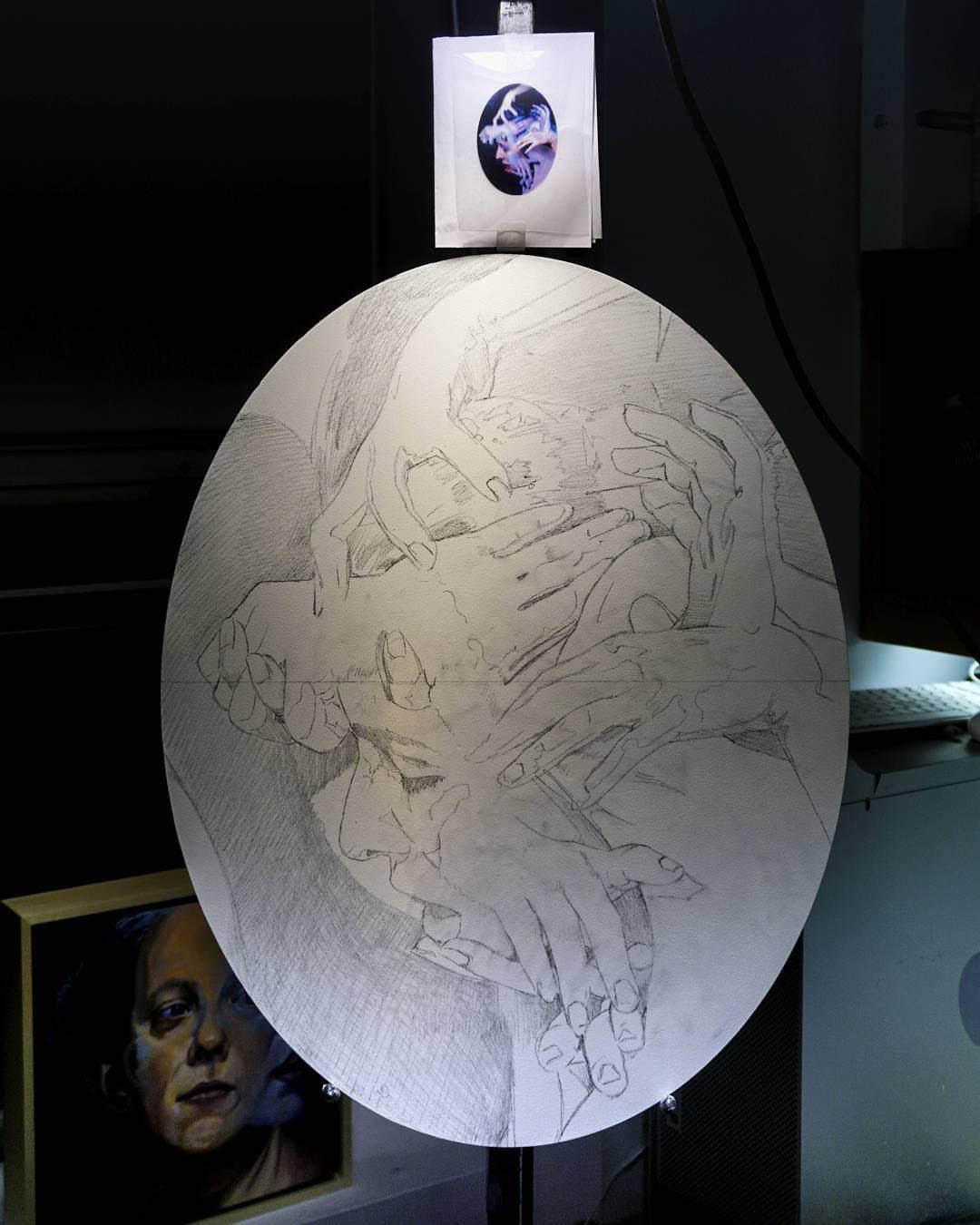 Medusa Drawing on aluminum by Scott Hutchison