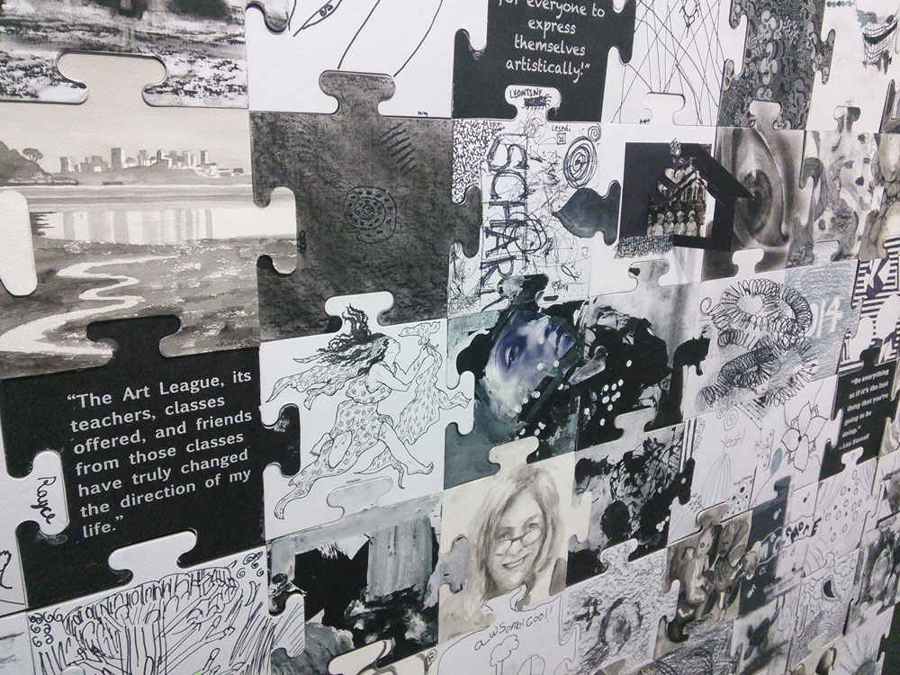 Scott Hutchison - Art League - Detailed Shot of Community Canvas