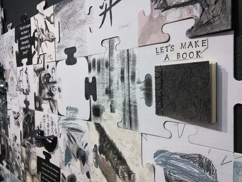 Scott Hutchison - Art League - Close up of Community Canvas 2