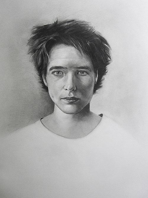 Scott Hutchison's graphite portrait drawing - Caroline