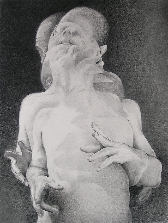 Scott Hutchison - Displaced - Graphite Figure Drawing