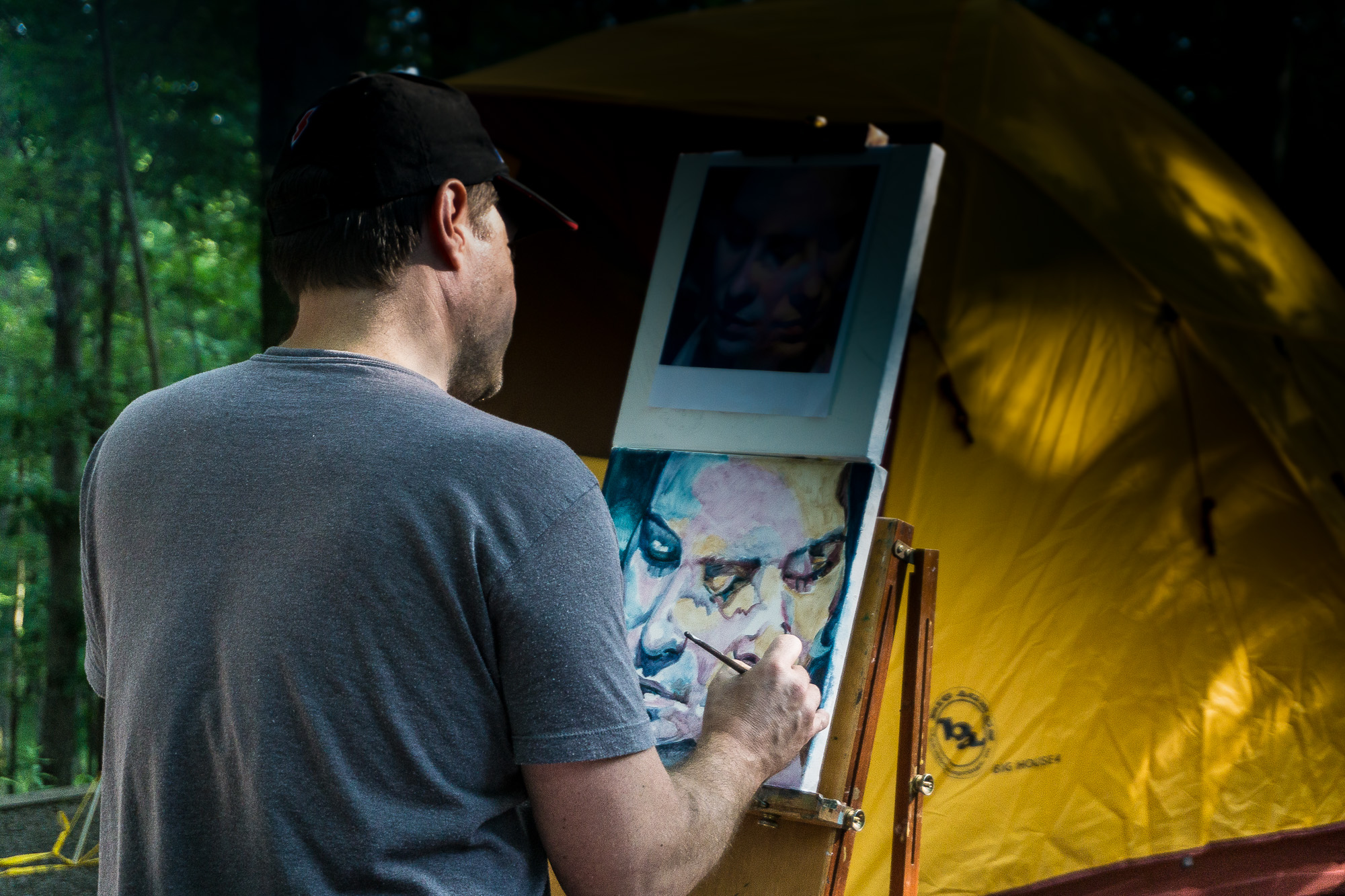 Scott Hutchison combining camping with painting the great outdoors