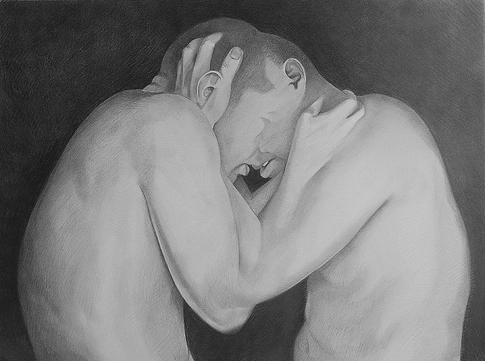 Hold - Graphite Drawing by Scott Hutchison Thurd Layer