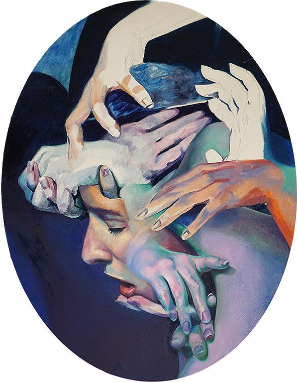 Scott Hutchison - Oil painting on aluminum - Medusa
