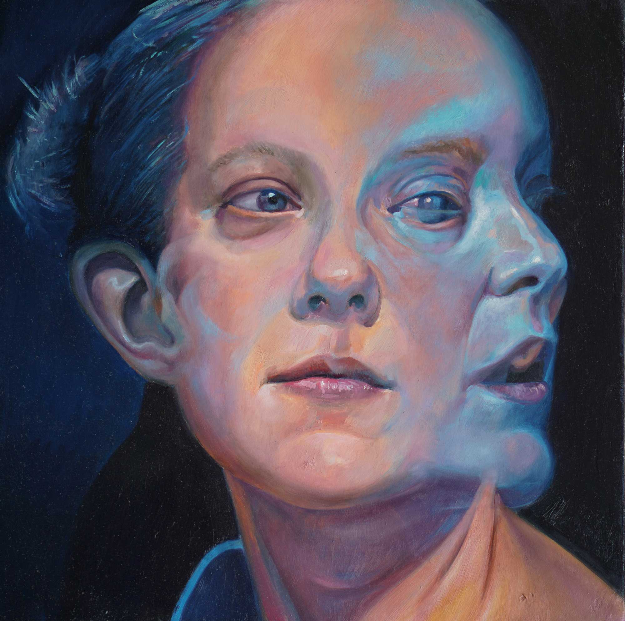 A Larger view of Scott Hutchison's framed painting titled A Glimpse