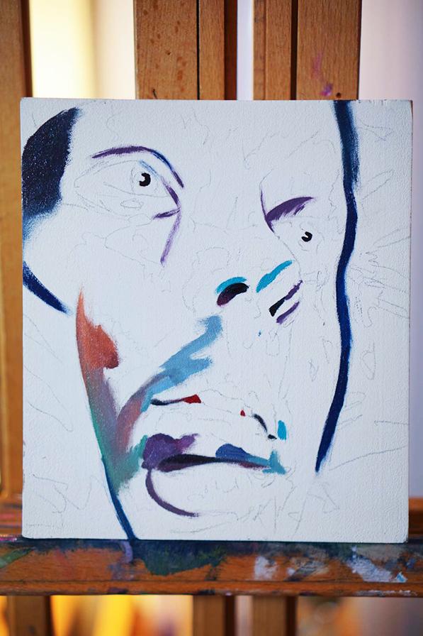 Scott Hutchison's Painting Twist in the Beginning