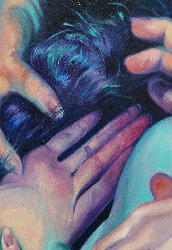 "Scott Hutchison Medusa, 18"" x 24"" oil on Aluminum - Detail 5"
