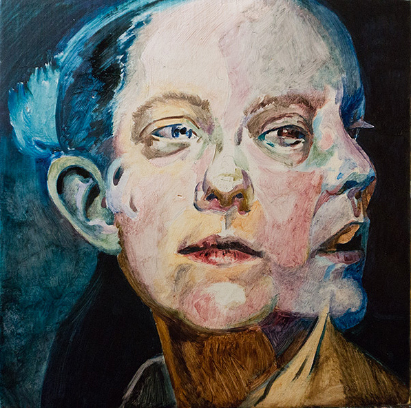 A Glimpse by Scott Hutchison - Oil on Linen Undrpainting