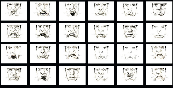 Scott Hutchison - O.W.L. - Ink Animation Making Facial Expressions