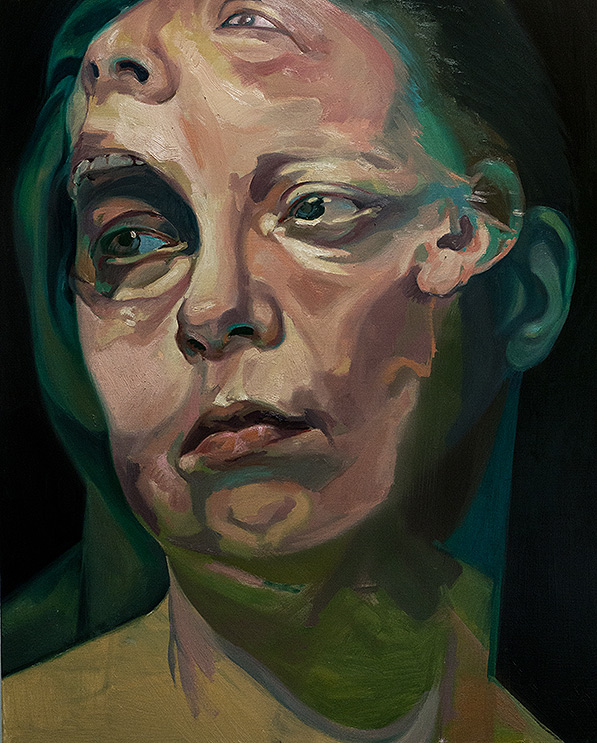 Before the After by Scott Hutchison - Oil painting of two faces screaming - First Layer