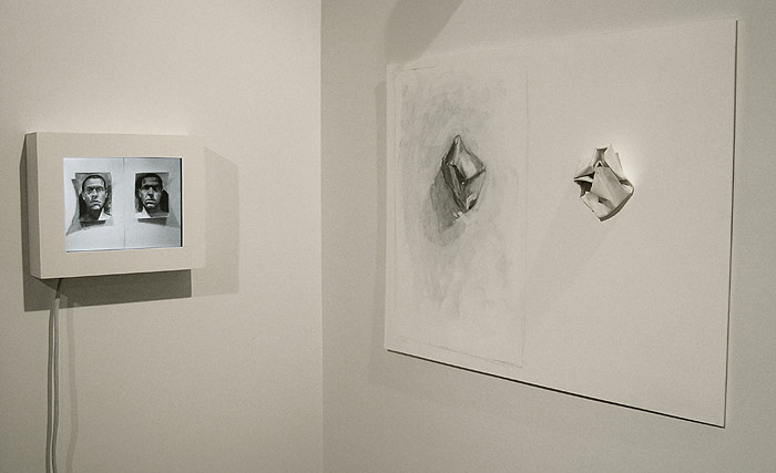 Scott Hutchison - Paper Portrait - Charcoal Drawn Animation - Installation View