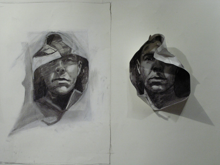 Scott Hutchison - Paper Portrait - Charcoal Drawn Animation