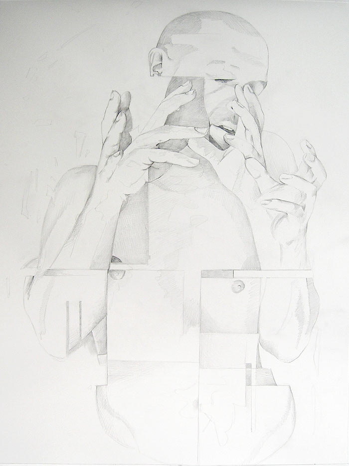 Scott Hutchison - Counterpoint - Graphite Figure Drawing Triptych