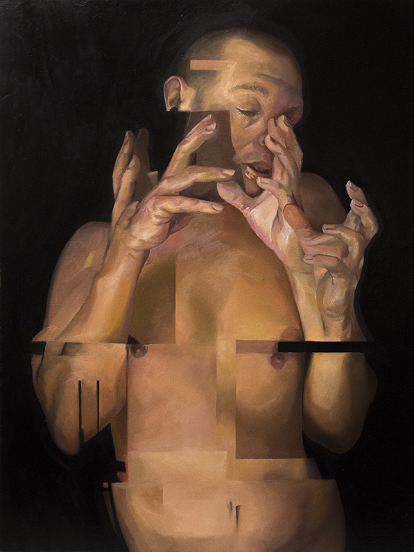 Counterpoint oil on linen by Scott Hutchison - Many hands Layer 5