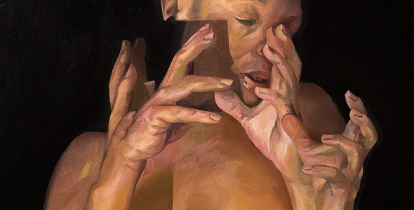 Counterpoint oil painting on linen by Scott Hutchison - Hands