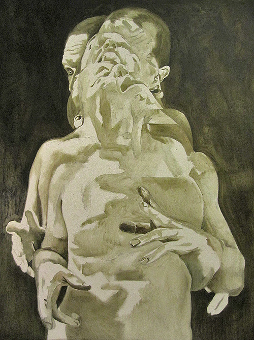 Scott Hutchison - Displaced - Figure Painting in oils - Underpainting