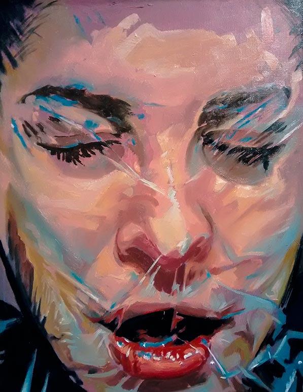 Scott Hutchison's painting titled Plastic