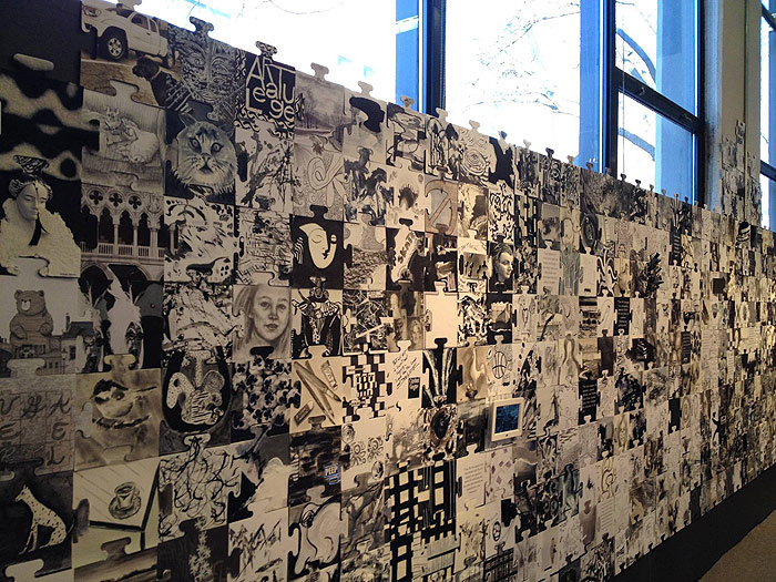 Scott Hutchison Community Canvas Public Art Project at the Art League