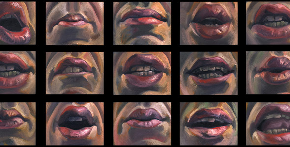 Scott Hutchison - Chatter II - Oil painted Animation of Mouths Chatting
