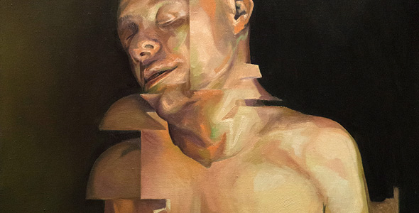 Shift oil painting on linen by Scott Hutchison - Broken Figurative Torso - Thumbnail