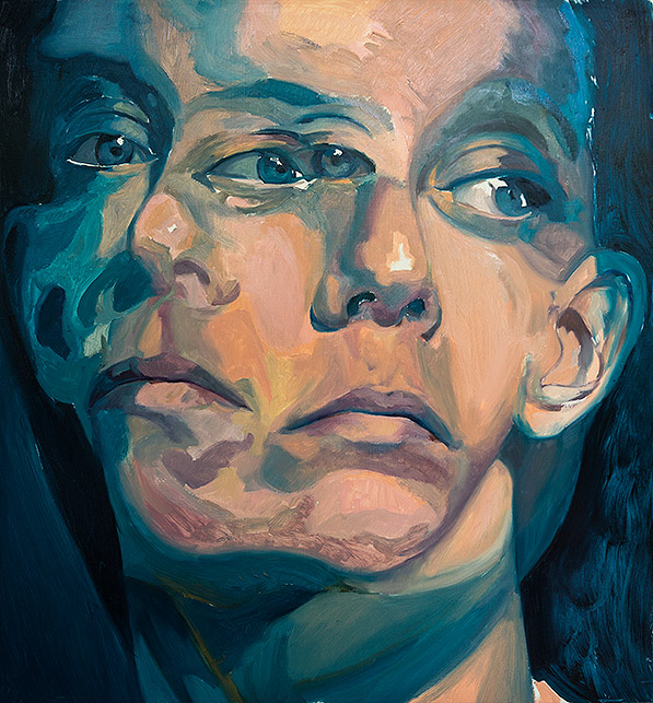 Colorful Double Portrait underpainting by Scott Hutchison