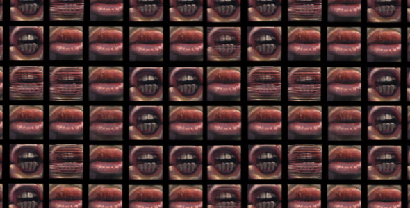 Scott Hutchison - Chatter - Oil painted Animation of Mouths Chatting