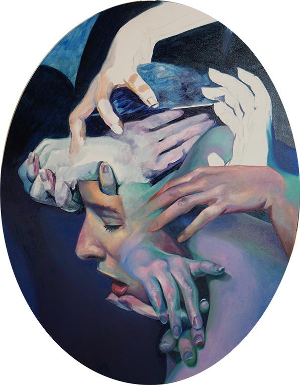 Medusa - Oil painting by Scott Hutchison on Aluminum