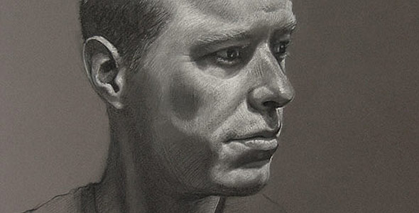 Scott - White Conte and Carbon Portrait by Scott Hutchison - Thumbnail