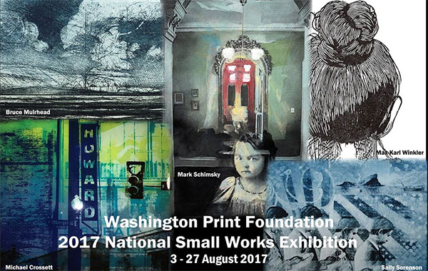 Washington Printmakers Gallery Poster for The Small Works Exhibition