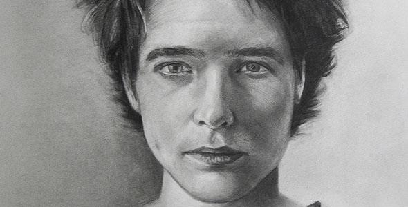 Scott Hutchison's graphite portrait drawing - Caroline - Thumbnail