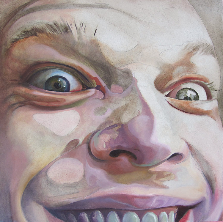 Crazed - Oil on Wood by Scott Hutchison