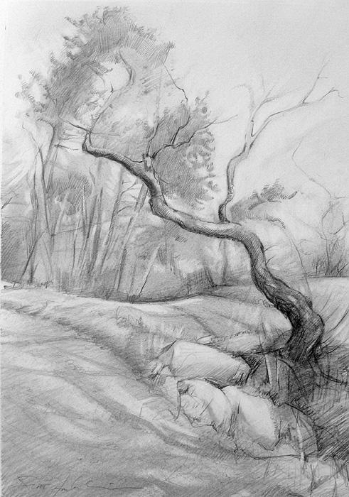 Landscape drawing by Scott Hutchison