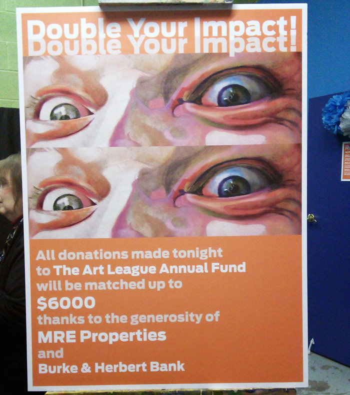 Poster of Crazed used in Art League Fundraiser