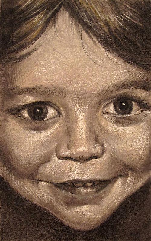 Cousins - Charcoal and conte portrait commissions by Scott Hutchison