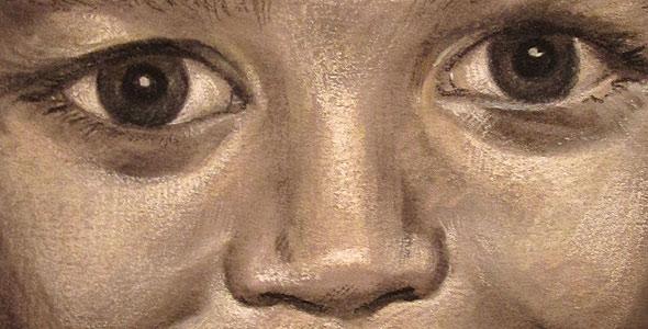 Serena - Charcoal and conte portrait commission by Scott Hutchison - Thumbnail