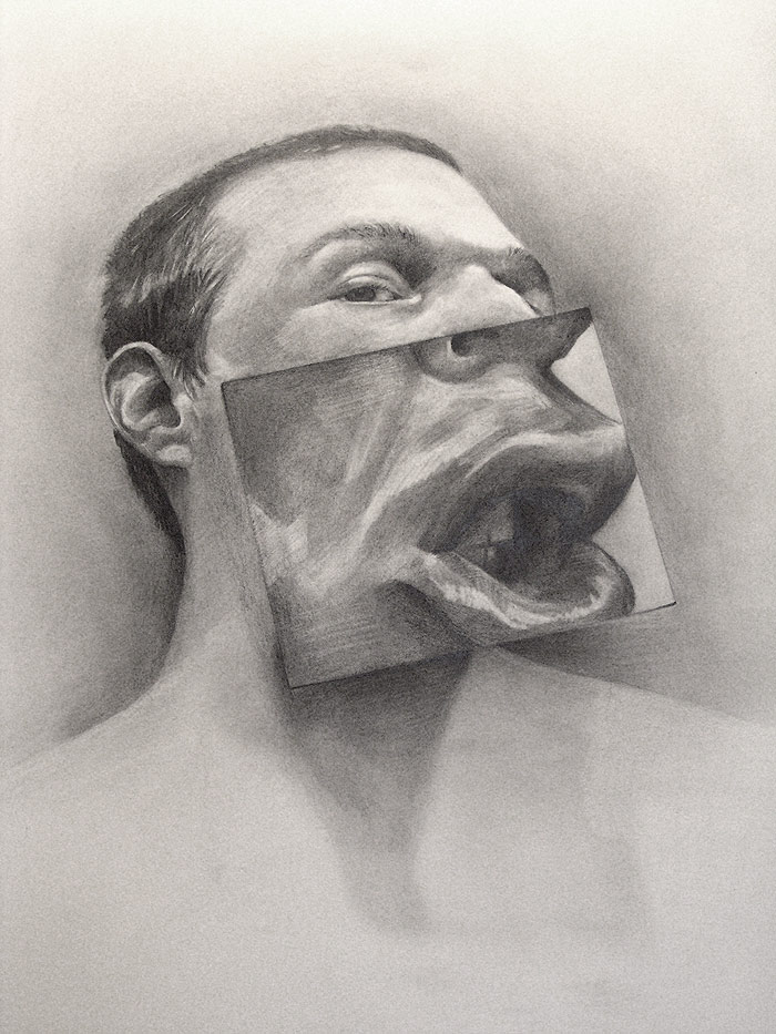 Silent One - Graphite Portrait by Scott Hutchison