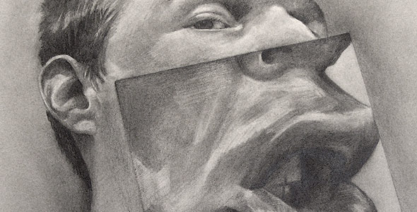 Silent One - Graphite Portrait by Scott Hutchison - Thumbnail