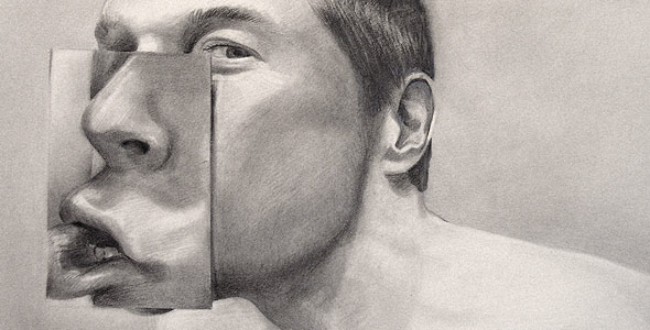 Silent Two - Graphite Portrait by Scott Hutchison - Thumbnail