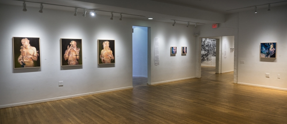 """""""Displaced"""" Triptych at The Hillyer Arts Space by Scott Hutchison"""