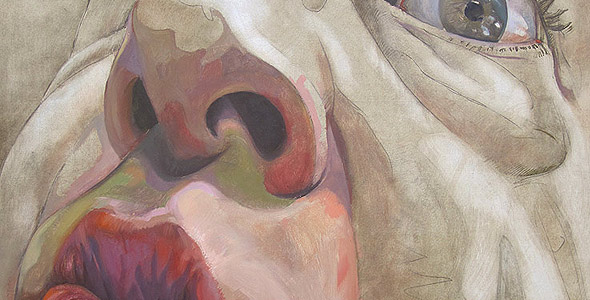 Waiting to Eat - oil on wood by Scott Hutchison thumbnail