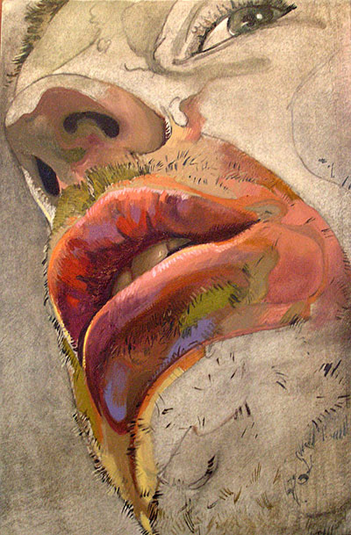 Wanting to Speak - oil on aluminum by Scott Hutchison